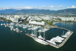 Arial photo of Marlin Marina Cairns