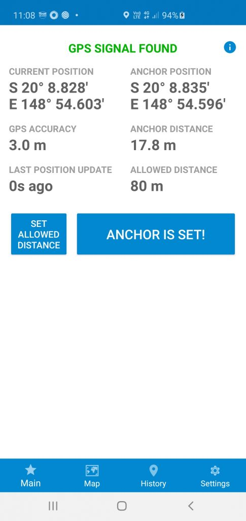 Anchor Lite anchor watch App