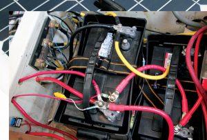 Batteries on a boat 12v DC battery bank