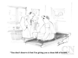 Clean bill of health