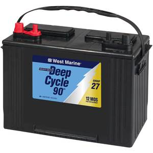 Deep cycle batteries on a boat