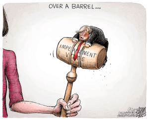 Over a barrel meaning and etymology
