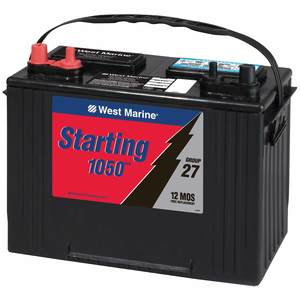 Starting battery on a boat