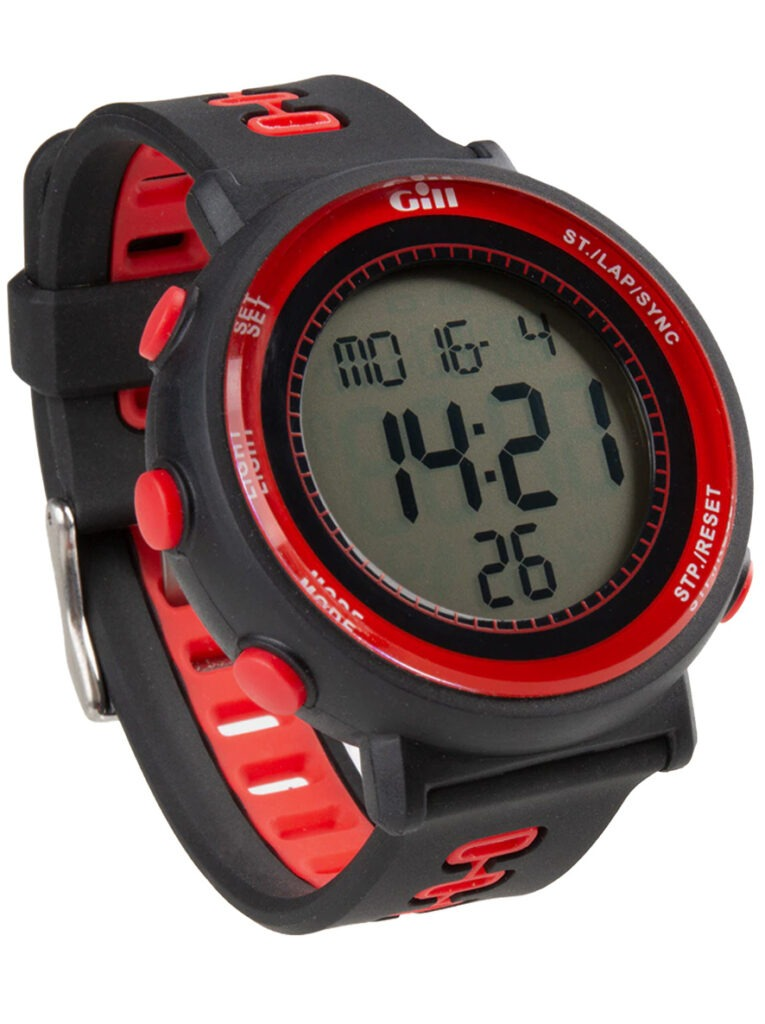 Gill Race Watch Black Red