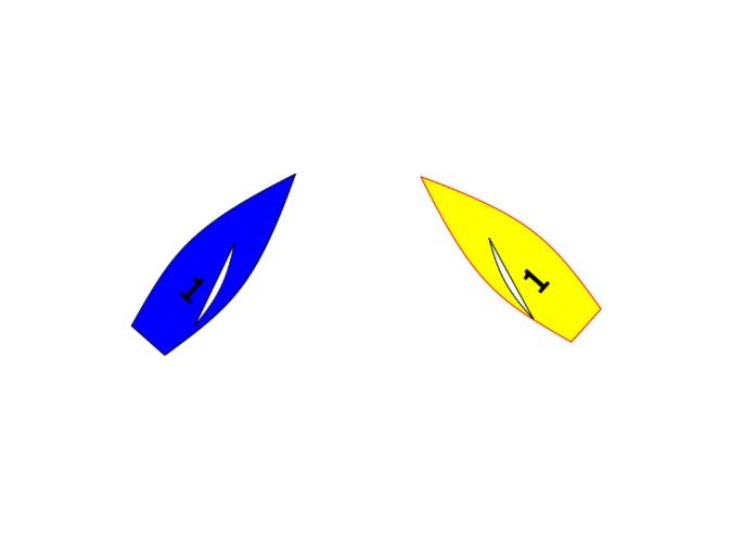 Rule 10 port starboard simple example